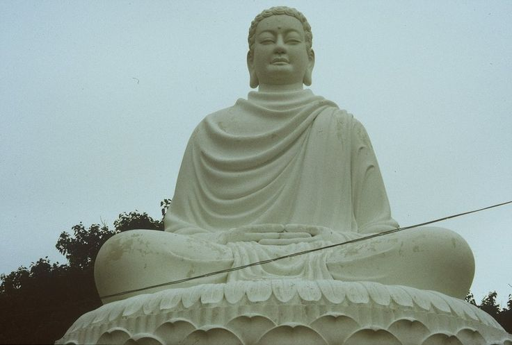 1989, Buddah Statue bei Vung Tau Südvietnam; 1989, Buddha statue in Vung Tau Vietnam;