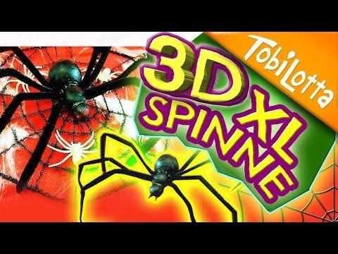 3D XL Spinne   Halloweendeko   Halloween DIY   Kinderkanal  halloween spinne basteln - Tobilotta 59 - YouTube
