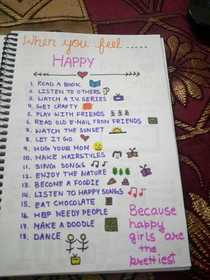 List Of Things To Do When Bored: Happiness Journal, Bullet Journal