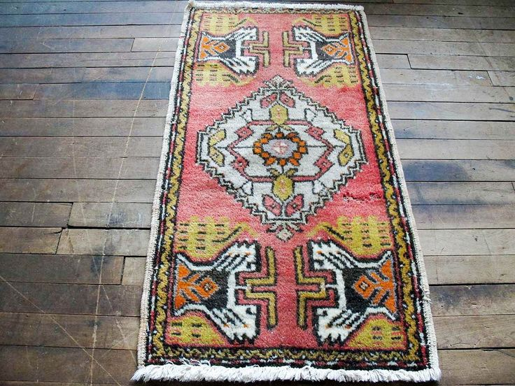 Vintage Pink Area Rug - Pink Bedroom Area Rug, Turkish Rug, Tribal Rug