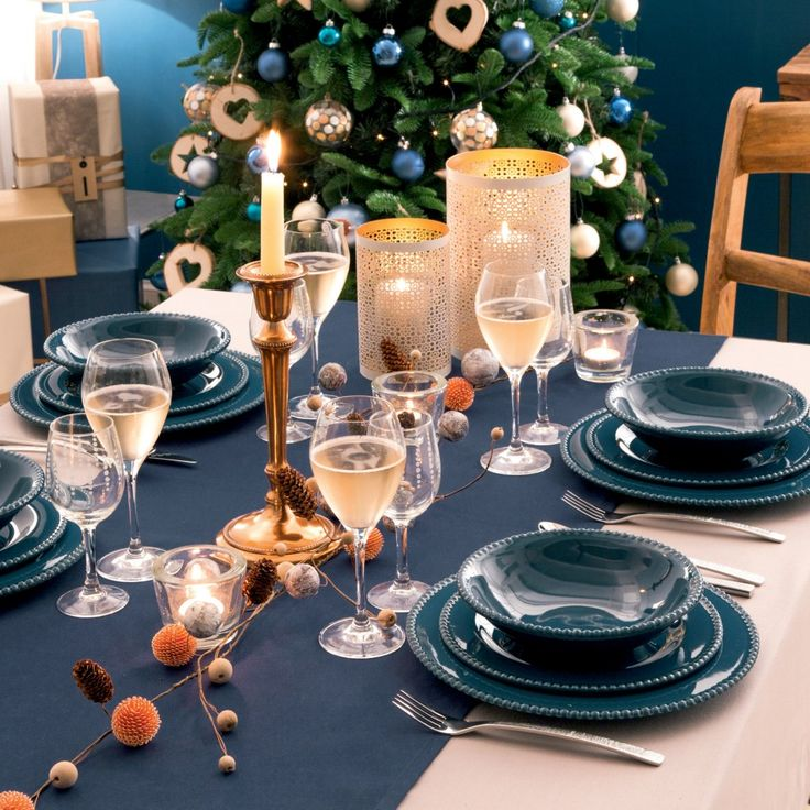 D co table de no l delamaison no l pinterest for Pinterest table de noel