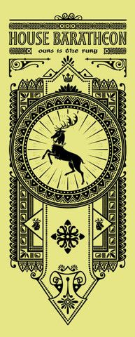House Baratheon Banner by olipop | #got #agot #asoiaf #series #got #illustration #ilustração