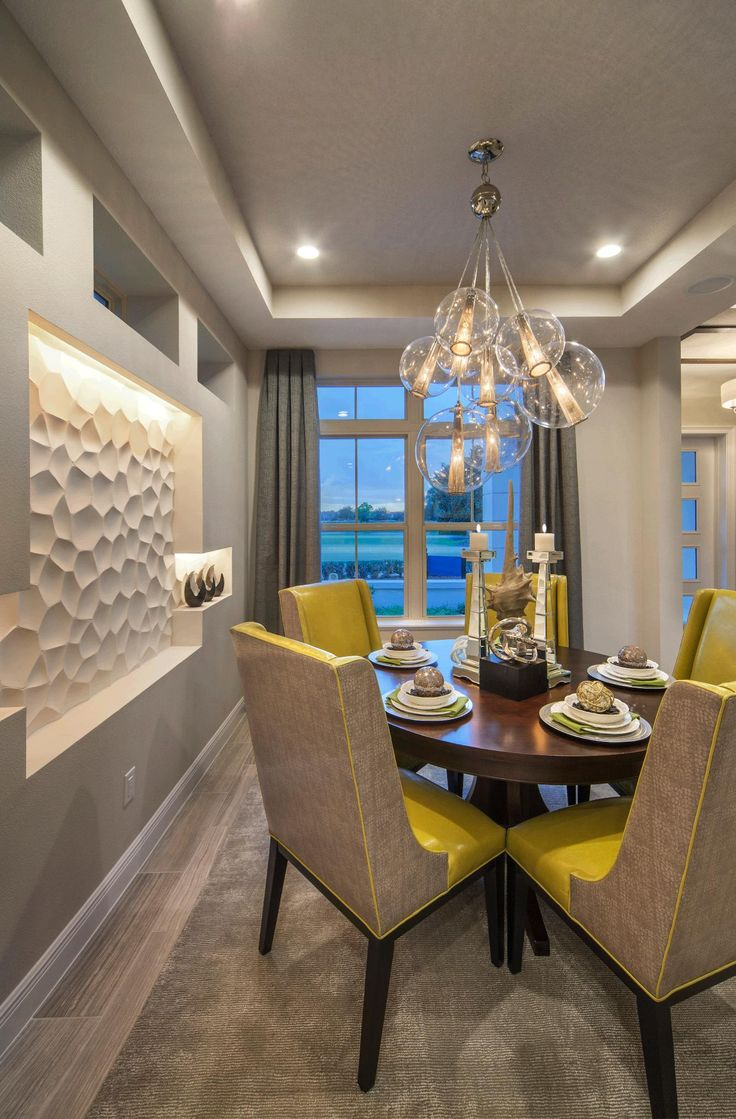 Enjoy A Delicious Dinner In This Unique Dining Room By Toll Brothers At Eagle Creek
