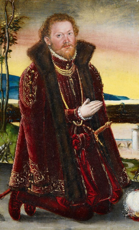 Lucas Cranach the Younger (1515-1586) —  Portrait of Prince Joachim Ernst  von Anhalt   (788x1300)