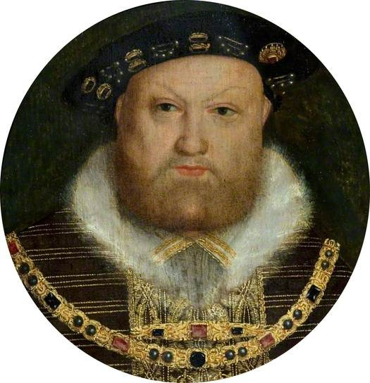 A miniature of King Henry VIII (1491–1547). By a follower of Hans Holbein the Younger.