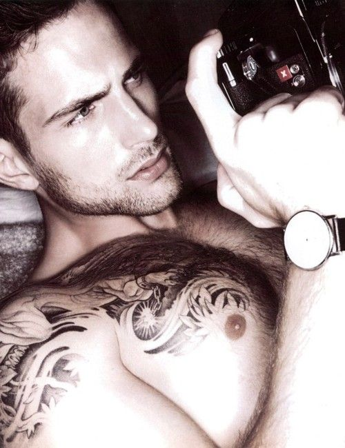 omg: Male Models Tattoo, Eye Candy, Tattoo Men, Faces, Hottest Guys, Tattoo Male Models, Matte Loewen, Ink, Eye Tattoo Lips