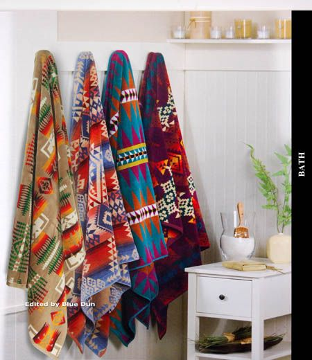 Best Pendleton Towels Ideas On Pinterest - Orange patterned towels for small bathroom ideas