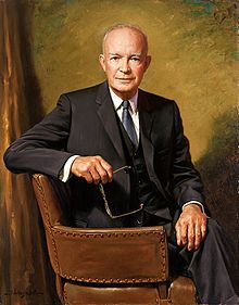 1953: Dwight Eisenhower is President and he sits for his official portrait