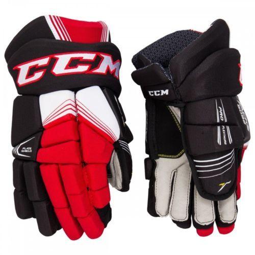 43895d3eade Gloves 20853  Ccm Black Red And White Tacks 5092 Junior Hockey Gloves 10