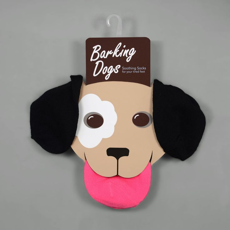 Barking Dogs Soothing Socks on Packaging of the World - Creative Package Design Gallery