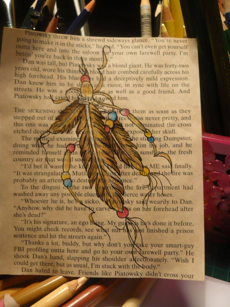 I bever knew I had a feather fetish until i started drawing,,,but i love being able to use the many old books I have and I love this look.