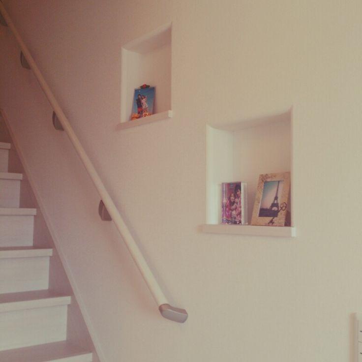 階段のニッチ/写真…などのインテリア実例 - 2014-04-29 17:48:39
