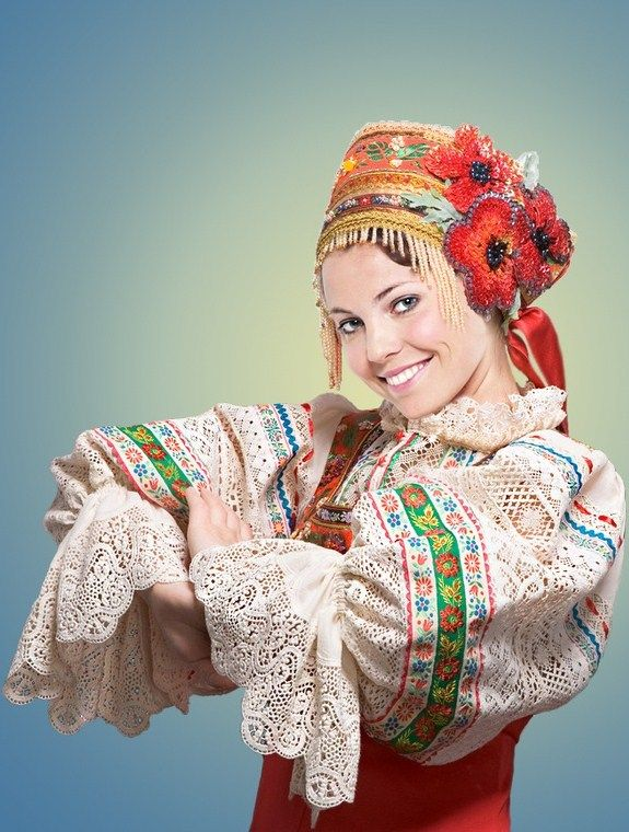 Russian costume. Stylization.