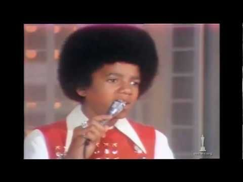 """Michael Jackson performing Original Song nominee """"Ben"""" from the film """"Ben"""" at the 45th Annual Academy Awards® in 1973. Introduced by Charlton Heston."""