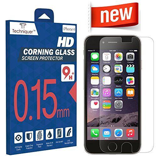 "iPhone 6 Corning Gorilla Tempered Glass Screen Protector Kit[4.7""] ONLY 0.15mm,9H,Oleophobic Surface,2.5D,Anti-Scratch,Anti-Glare,Fingerprint-Proof,& Water Resistant.AT&T Verizon[Lifetime Warranty] Techniquer http://www.amazon.com/dp/B00RK7OPZC/ref=cm_sw_r_pi_dp_ENVPvb0WHDB7A"