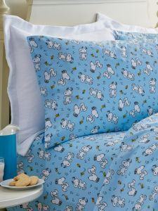 Peanuts Dancing Snoopy Percale Sheets