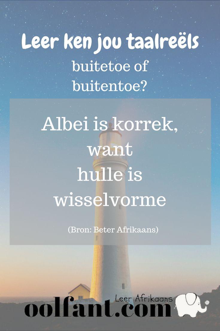 Buitentoe of buitetoe? | Taalreëls | Beter Afrikaans