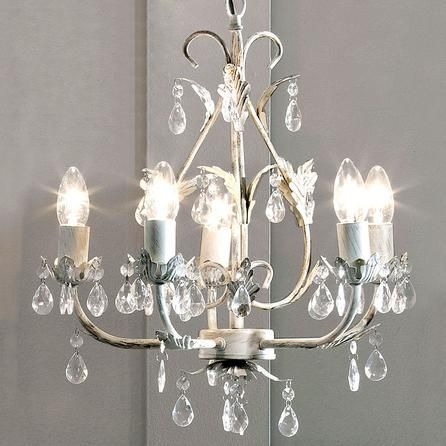Leaf and Jewel/Crystal 5 light. £54.99. Dunelm. Drop 71cm - 88cm.