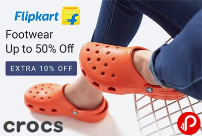 Flipkart is offering Upto 50% off + Extra 10% off on Crocs Womens Footwear. Includes Flats, Heels, Wedges, Ballerinas, Casual Shoes, Sports Sandals, Slippers & Flip Flops, Boots & etc.  http://www.paisebachaoindia.com/crocs-footwear-upto-50-off-extra-10-off-flipkart/