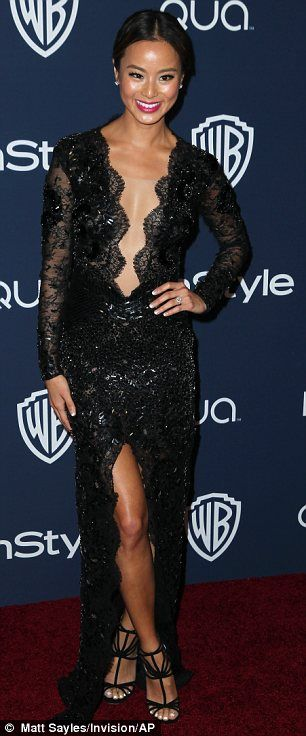 Jamie Chung at the 2014 Instyle and Warner Bros Golden Globes After-party