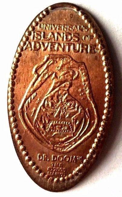 Elongated Pressed Penny Coin DR DOOM- Universal Studios Florida