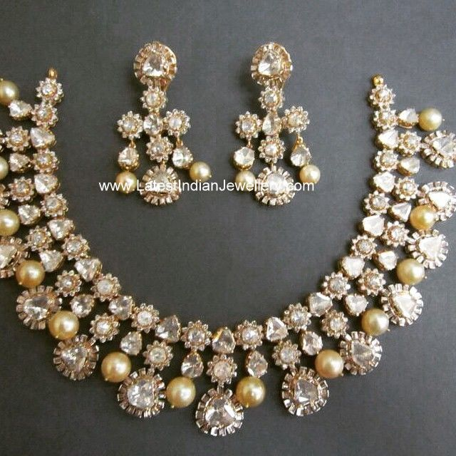 Flat Cut Diamond Necklace