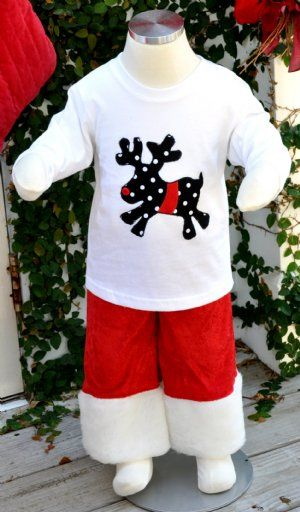 NEW! Boys Christmas Two Piece SetPants and ShirtMatches Sister Outfit!