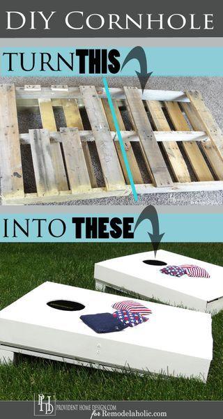 Budget-Friendly DIY Cornhole Set from a Pallet | * Remodelaholic * | Bloglovin'