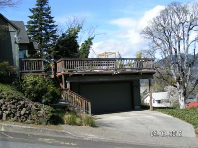 70 best garage upper deck images on pinterest backyard for Deck over garage plans