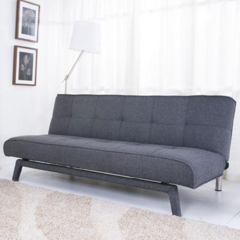 leader lifestyle johansson sofa bed williow grey fabric