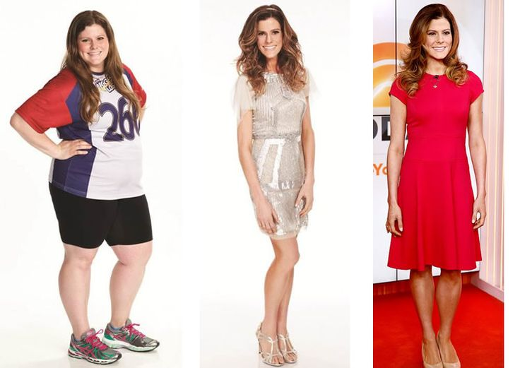 Rachel Fredrickson before, at finale, and now