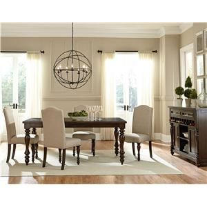 Standard furniture mcgregor dining table and 6 for Dining room tables american furniture warehouse