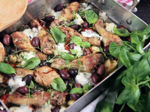 Ugnsrostad kyckling med gorgonzola