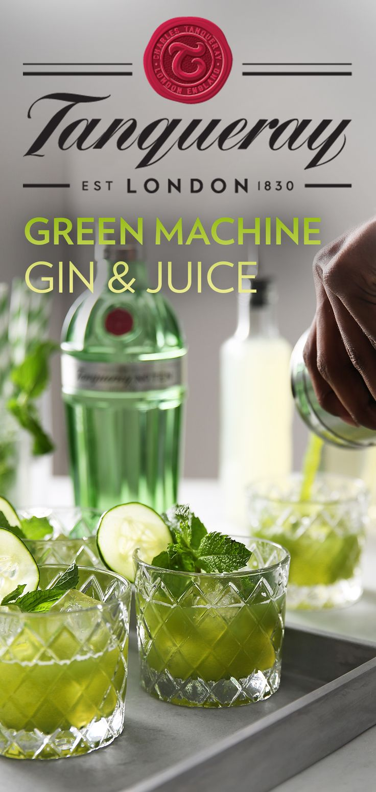 This New Year, put a spin on your Gin & Juice with fresher cocktail ingredients. The Green Machine is the perfect drink for kicking back with your crew. To make, simply mix 1.25 oz Tanqueray No. TEN with 3 oz of your green juice of choice over ice. Blend assorted greens with apple and lemon to create juice. Fine strain green juice into glass, add Tanqueray No. TEN and stir. Garnish with a mint sprig.