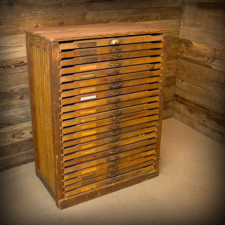 Flat file drawer cabinet