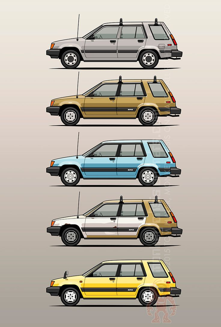 Toyota Tercel Sr5 4wd Al25 Wagons on Behance