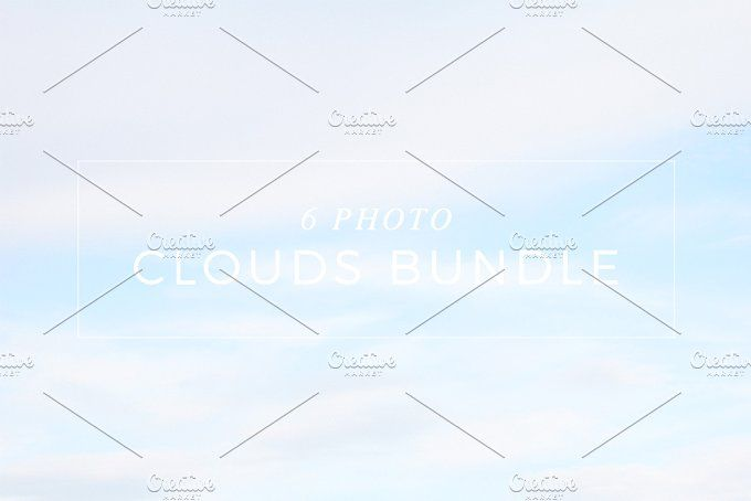 Six Photo Clouds Bundle by NataliaGubinaPhotography on @creativemarket