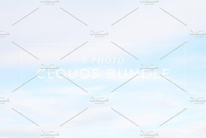 Six Photo Clouds Bundle by NataliaGubinaPhotography on @creativemarket