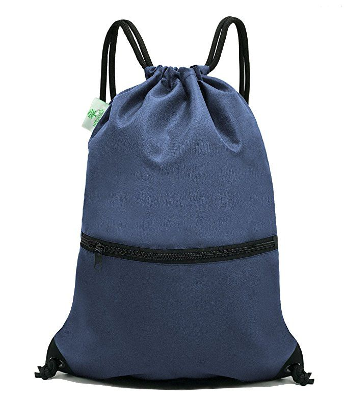 HOLYLUCK Men   Women Sport Gym Sack Drawstring Backpack Bag (White ... 4155277ba5