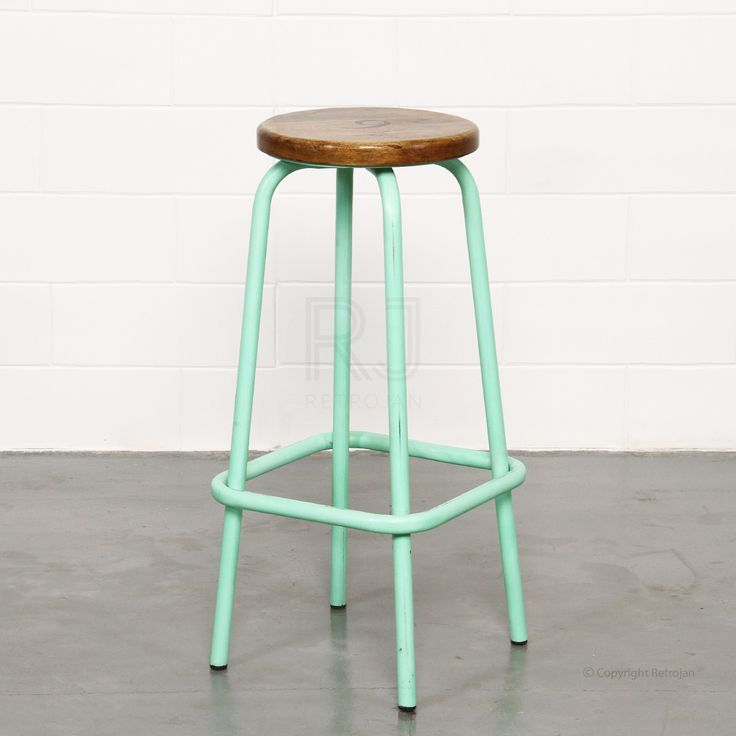 Clifford Industrial Stool - Mint Green | $99.00