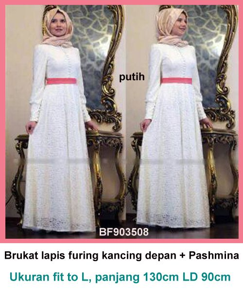 Gamis Brukat putih 08·Bajugamismu.com·