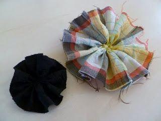 Marly Design: stoffen bloemen maken 1. Goede tuto!