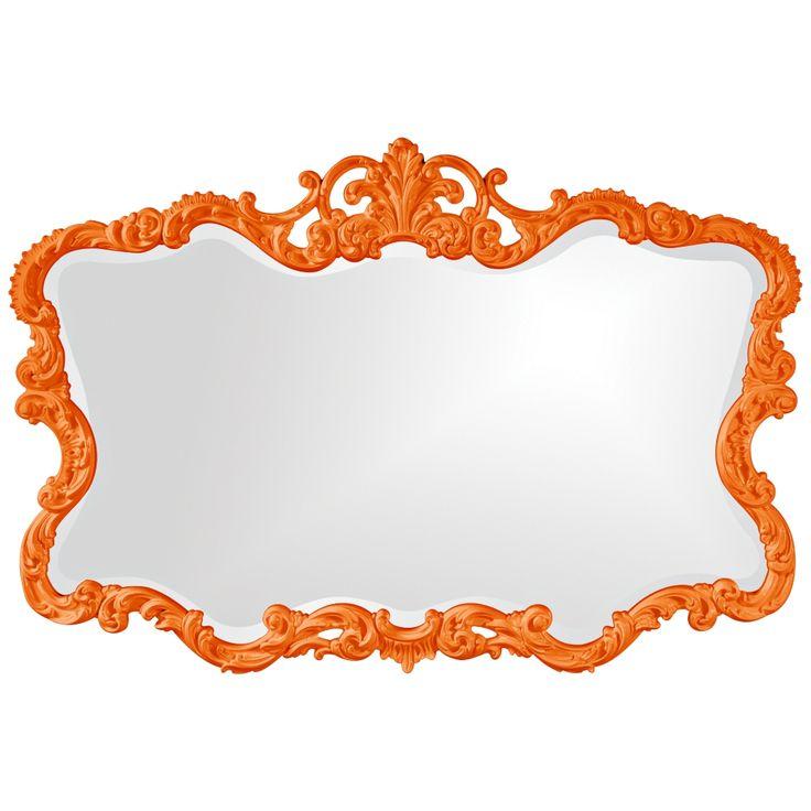 "Howard Elliott Talida 38"" x 27"" Orange Wall Mirror - Style # 5J971"