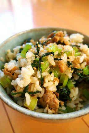 ランチ◎超簡単♪小松菜☆豚バラ☆混ぜ御飯の画像