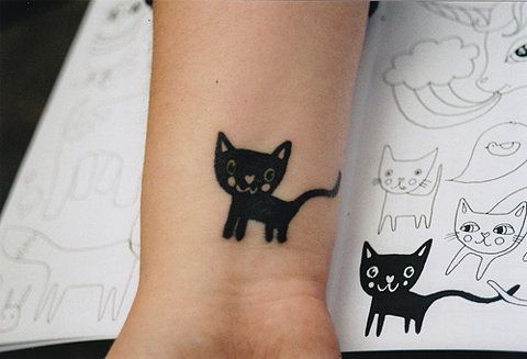 cat tat: Tattoo Ideas, Kitty Tattoo, Cats, Cat Tattoos, Body Art, Tattoo'S, Black Cat, Ink