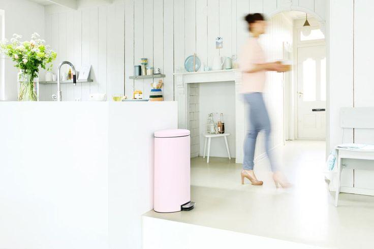 Brabantia FlatBack Mineral Pink  Küchenmülleimer Mülleimer