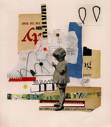 Once upon a time collage on paper,2012