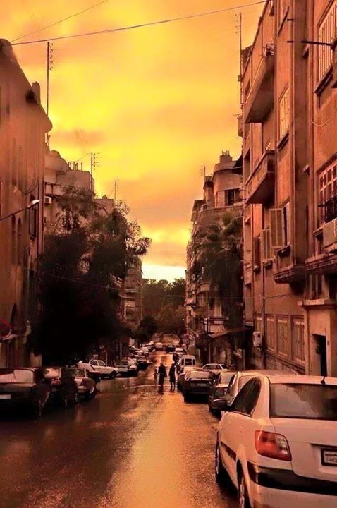 Azizyah Street in Aleppo, Syria