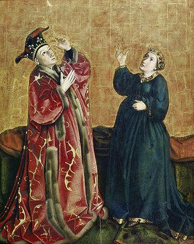 Konrad Witz: Kaiser Augustus und die Tiburtinische Sibylle. Um 1435