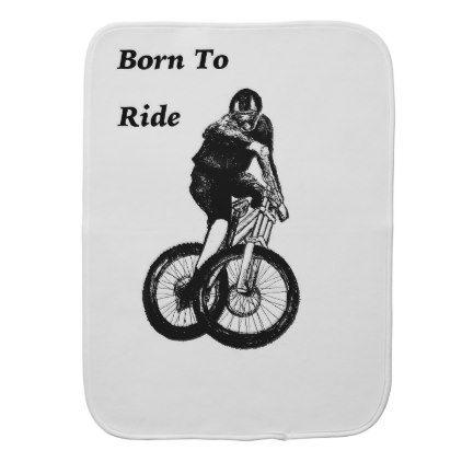 #Mountain Biker MTB BMX CYCLIST Cyclo cross Burp Cloth - #cycling #gifts